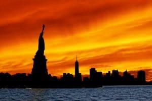 dove vedere alba new york